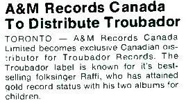 A&M Records Cashbox, Bibliography