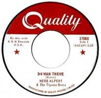 Second Quality Records stock single label for A&M Records