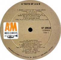 A&M Records compilation album pressed by Quality Records