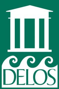Delos Music International logo